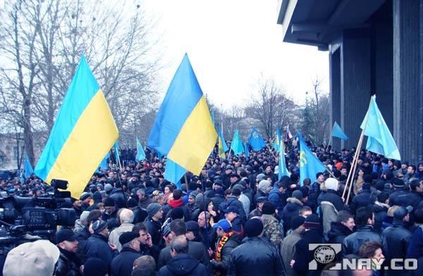 Волнения народа на площади