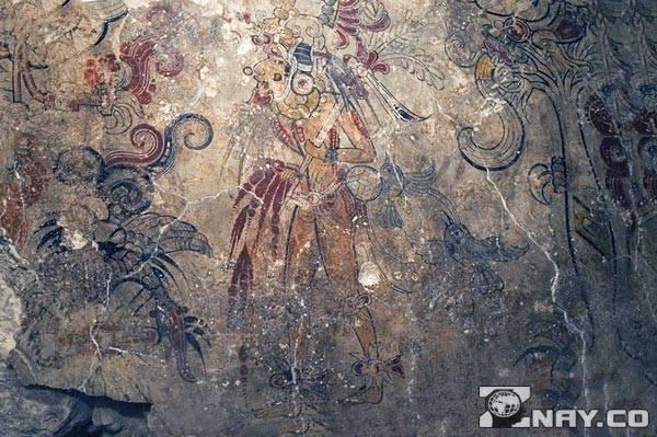 Майя оставили наскальные рисунки