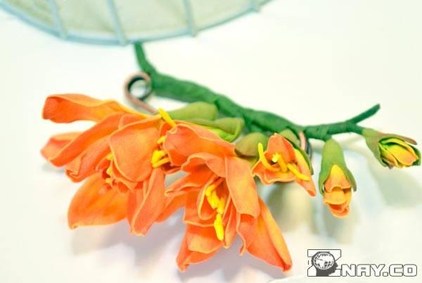 Готовая работа - цветок Канзаши