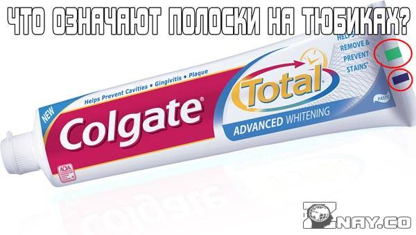 Что означают полоски на тюбиках зубной пасты