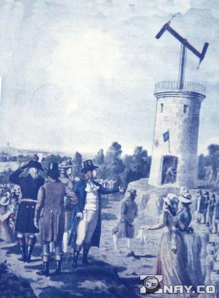Первый семафорный телеграф