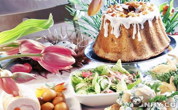Блюда приготовленные на Пасху
