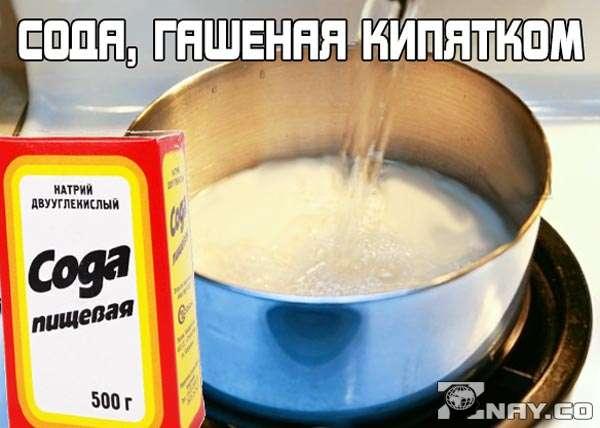 Что дает сода, гашеная кипятком для организма человека