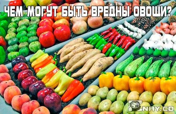 Вред овощей для человека