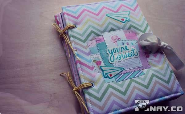 Обложка дневника из скрапбукинга