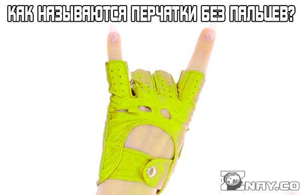 Перчатки без пальцев - как называются?