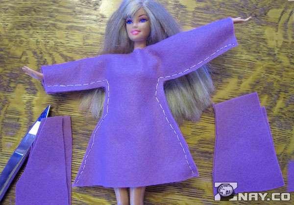 Сжила для Барби платье