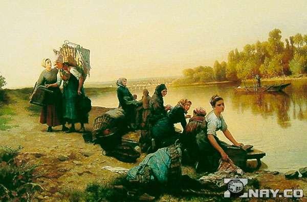 Работ прачек на Руси - мытье