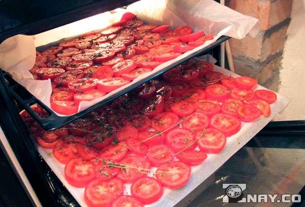 Сушение томатов в духовке