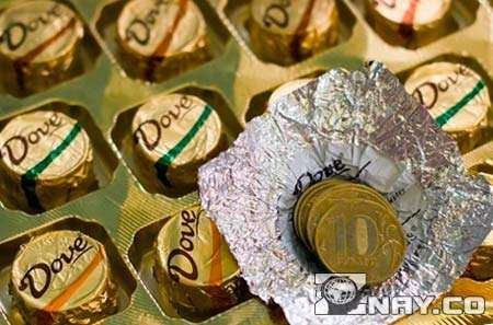 Конфеты с монетами