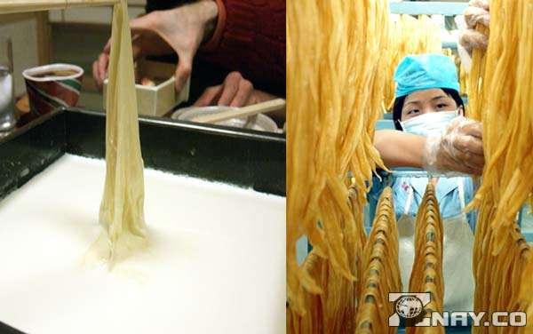 Процесс приготовления из соевой пенки