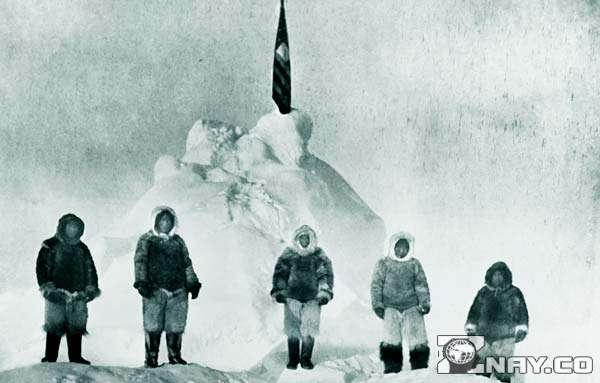 Первооткрыватель Роберт Пири с экспедицией