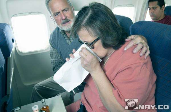У американки приступ страха в самолете