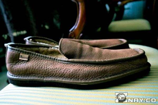 Мокасины кожаные коричневые