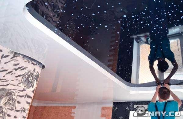 Дизайнерское полотно со звездами