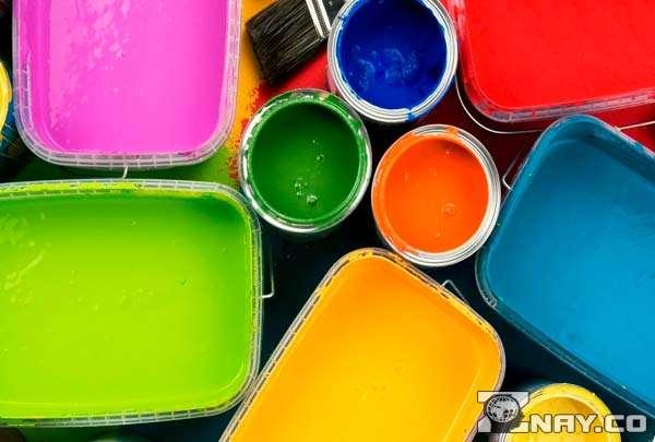 Разноцветные краски - акварель