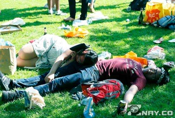 Пьянка закончилась на траве