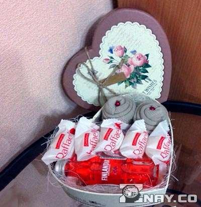 Подарок сделанный своими руками - рафаелло и алкоголь