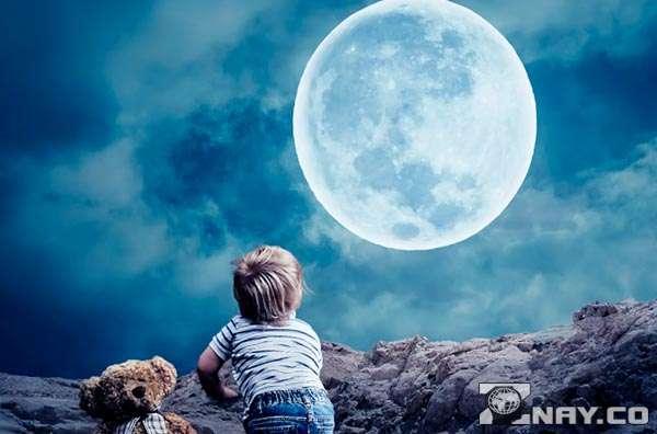 Смотрит на ночное небо - сомнамбулизм