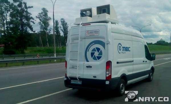 Передвижной мобильный фургон с системами слежение