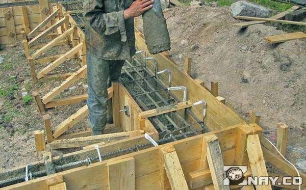 Начало строительства - фундамент