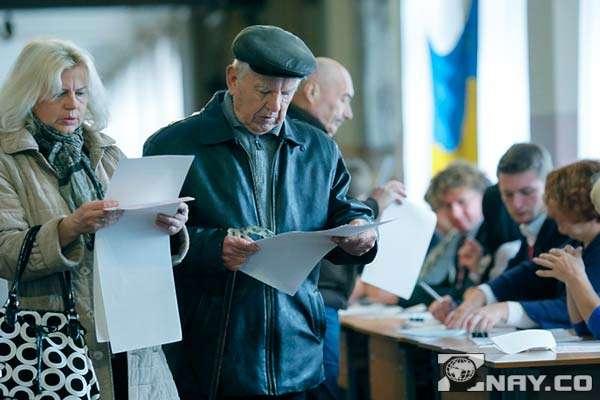 Украинские Пенсионеры голосуют