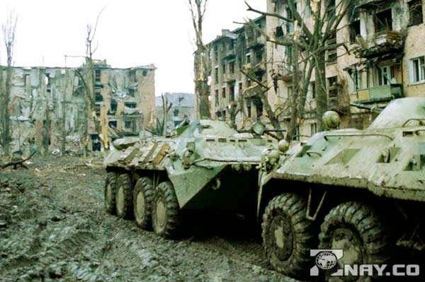 Танки в городе - Чечня
