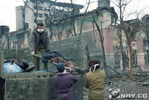 Разрушенный чеченский поселок