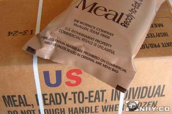 Ящики с продовольствием с надписью US