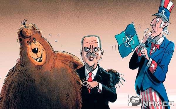 США с Турецкими и Российскими правителями