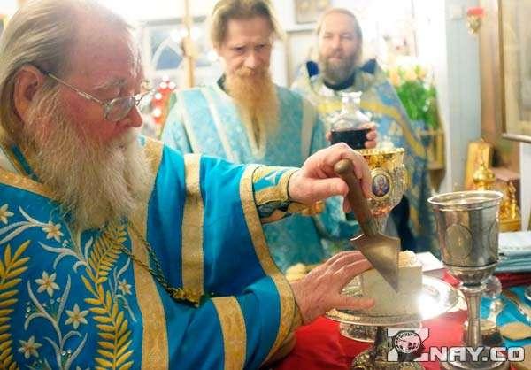 Проскомидия и литургия в церкви
