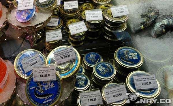 Дорогой рыбный продукт-деликатес