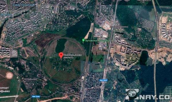 Железнодорожное кольцо на карте в Южном Бутово