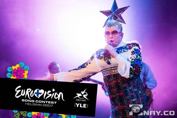 Верка выступает на Евровидении