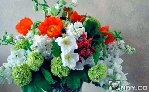 Букет весенних полевых цветов
