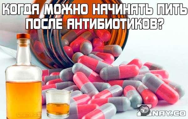 Через сколько после антибиотиков можно пить алкоголь?