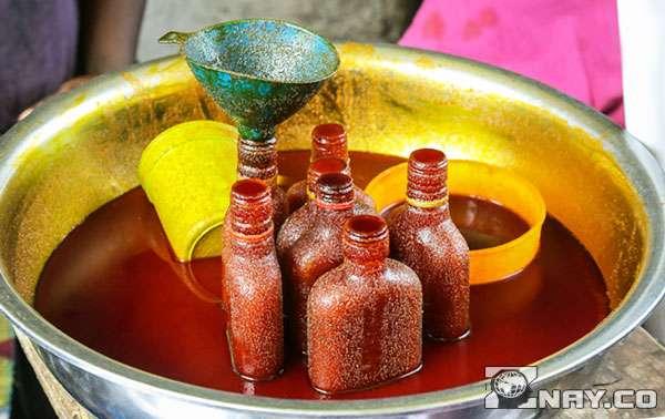 Правильно обработанное красное пальмовое масло